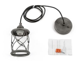 The Gray Barn Windy Bracken 1 light Metal Cage Shade Industrial Mini Wire Pendant  Retail 86 49
