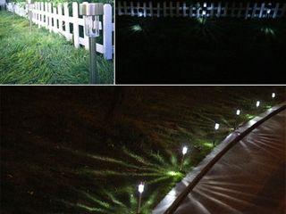12 pcs Garden Outdoor Stainless Steel lED Solar landscape Street lamp