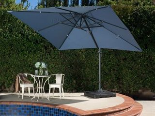 Royal Water resistant Fabric Canopy Umbrella by Christopher Knight Home  Retail 468 99