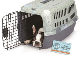 Dog Is Good Blue Plastic Never Travel Alone Dog Crate