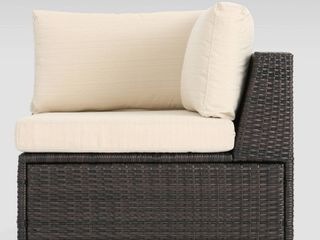 Christopher Knight outdoor brown Beige sectional   Armchair only