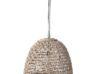 East at Main Ensley Open Weave woven Pendant   White Wash   20  x 20  x 17  Retail 178 99
