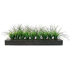 Vintage laura Ashley Green Grass in Contemporary Wood Planter  Retail 87 99