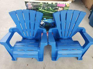 American Plastic Toys Adirondack Chairs Set