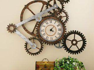 Carbon loft Wozniak Rustic Gears Wall Clock  Retail 92 49