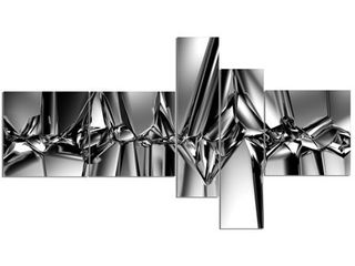Designart  Black White Crystal Background  Abstract Canvas Art Print  Retail 124 68