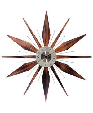 Utopia Starburst Mid Century Modern large 30 inch Wall Clock by Infinity Instruments  Retail 133 99