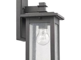 Chloe Transitional 1 light Black Outdoor Wall lantern