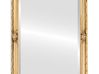 Jefferson Framed Rectangle Mirror in Gold leaf  Retail 266 49