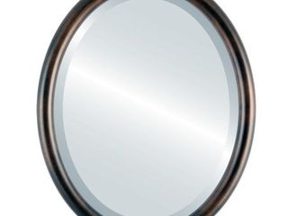 Pasadena Framed Oval Mirror in Rubbed Bronze   Retail 115 49
