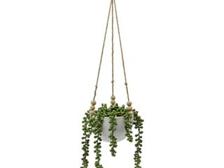 Artificial Plant String of pearls in Ceramic Hanging   ONE SIZE