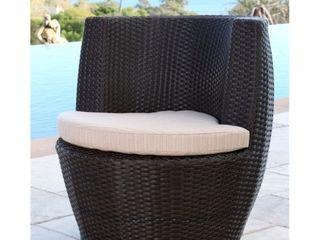 Abbyson Newport Outdoor Espresso Brown Wicker Bistro Chair  Retail 194 99
