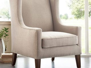 Madison Park Weston linen Wing Chair  Retail 333 31