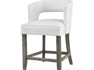 Somette Philly Brown with White Fabric Counter Height Barstool  Retail 225 99