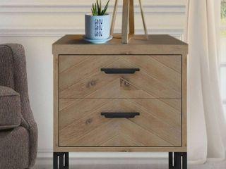 Carbon loft Harun Wood 2 drawer Nightstand  Retail 182 10