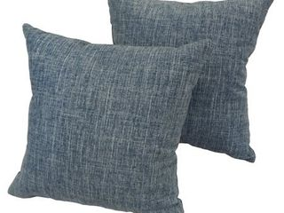 Blue Jean 17 inch Indoor Outdoor Throw Pillow  Set of 2
