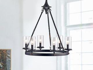 elbris 6 light candle style wheel Chandelier