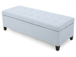 Mission Tufted Fabric Storage Ottoman Bench by Christopher Knight Home  Retail 168 45