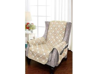 Elegant Comfort 2 Tone Bloomingdale Pattern Quilted Wing Chair Furniture Protector