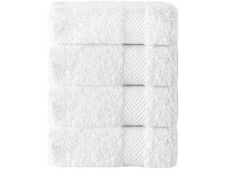 Kansas Hotel Collection Turkish Cotton Wash Cloths  Set of 4    Washcloths 12  x 12