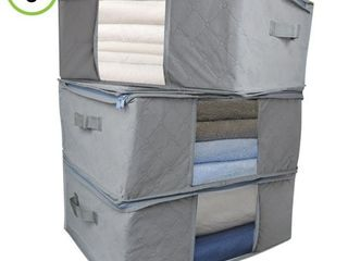Evelots Foldable Home Closet Room Storage Organizer Bags Clearview Window   Set of 3