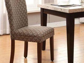 homepop modern parson blue chocolate dining chair