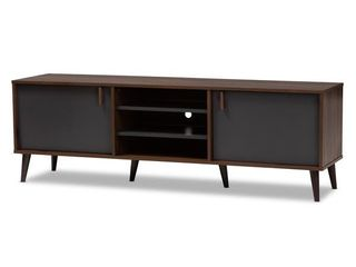 Mid Century Brown and Gray TV Stand