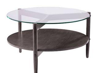 Carbon loft Gelber Round Glass Top Cocktail Table  Retail 209 99