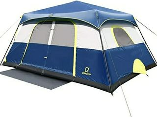 14x10 OT QOMOTOP10 Person Instant Cabin Tent with Rainfly  60 SecondEasy Setup  Waterproof Tents for Camping  Advanced Vent Design  Electrical Cord Access Port