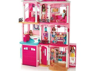 Barbie Dream House  Pink  Dollhouses