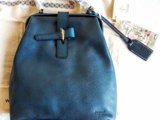 Old Trend Pamela leather Backpack   Turquoise Ombre