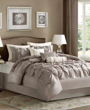 Madison Park   Piedmont Comforter Set  King  Taupe   7pc
