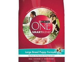 Unopened Purina ONE Natural large Breed Dry Puppy Food  SmartBlend large Breed Puppy Formula  16 5 lb  Bag