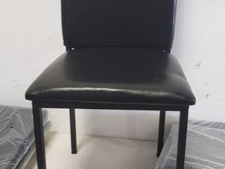 Pack Of 4 Black leather Dining Chair 37  x 17  x 18  Seat Height 18  All Hardware Included
