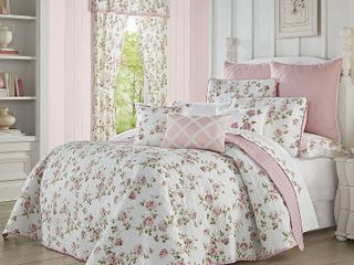 Royal Court Rosemary Rose King 4pc  Quilt Set Bedding
