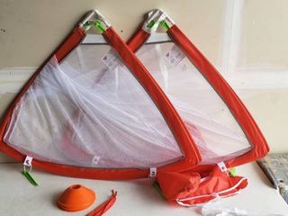 Go Sports Kids Soccer Pavement Hockie Goal Set With 2 Goals And Spikes Amd Cones