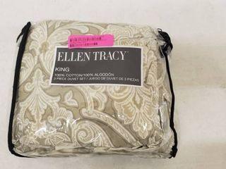 Ellen Tracy Chandler 3 Piece Premium Cotten King Bedding Set