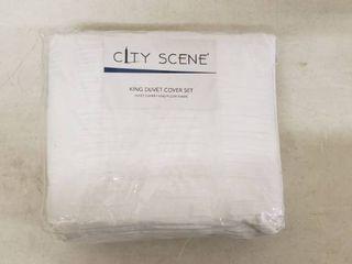 City Scene King Duvet Cover Set 104in x 88in