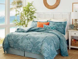 King 4pc Abalone Comforter Set Blue   Tommy Bahama