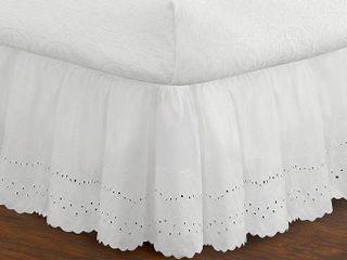 levinsohn Eyelet Ruffled Bedding Bed Skirt  Queen Size