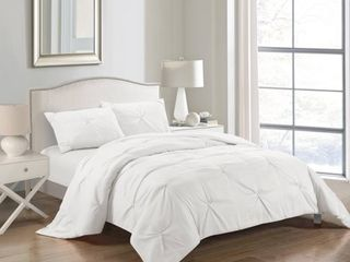 CASA Pintuck 2 Piece Twin Sized Comforter Set  Multiple Colors and Sizes