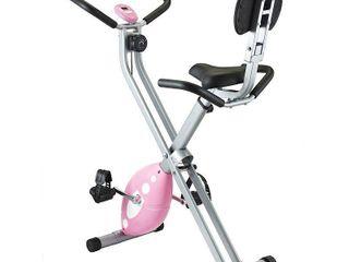 Sunny Health   Fitness Magnetic Folding Recumbent Bike Exercise Bike  220lb Capacity   SF RB1117