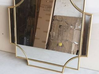2ft x 2ft Gold Wall Mounted Mirror No Hardware