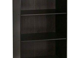 Furinno Basic 3 Tier Bookcase Storage Shelves  Espresso