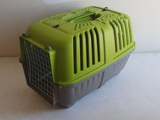 Green Small Pet Kennel Missing One Door lock 21  x 13