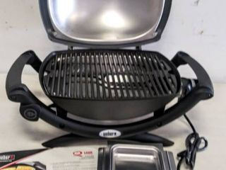 Weber  Model   52020001  Q1400 Electric Grill   Gray   Tested   Working