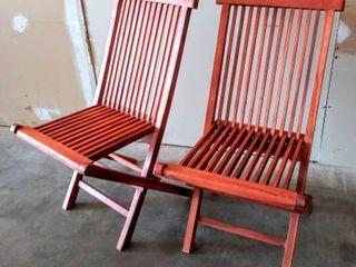 Bare Decor BARE DC1021 Vega Outdoor Folding Chair  Set of 2  Teak