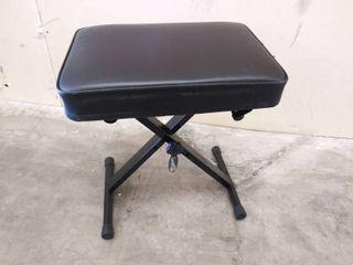 RockJam Adjustable Padded Keyboard Bench  X Style  Black