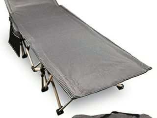 REDCAMP Folding Camping Cots for Adults 500lbs  Double layer Oxford Strong Heavy Duty Wide Sleeping Cots for Camp Office Use  Portable with Carry Bag