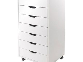 Winsome Wood Halifax 7 Drawer Cabinet   White Finish